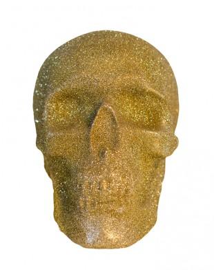 Gold Glitter Skull