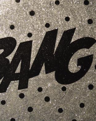 Bang! Glitter painting by Barbara Smith
