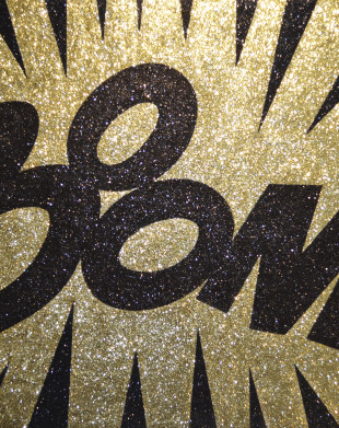 Boom - Glitter painting by Barbara Smith
