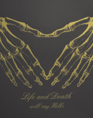 Life and Death Will Say Hello (Gold on Black) - Screenprint by Barbara Smith