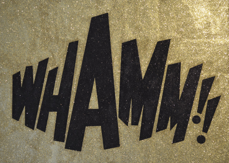 Whamm !! Glitter Painting by Barbara Smith
