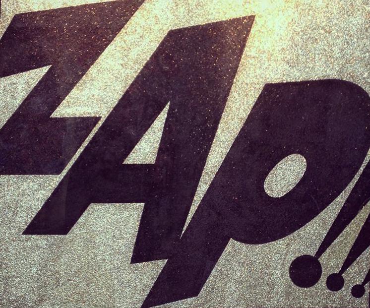 ZAP !!! Glitter painting by Barbara Smith